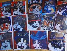 Steampunk animales de Arte Tarjetas de felicitación Gato Totoro Tiger Dr Who Harry Potter Pirata
