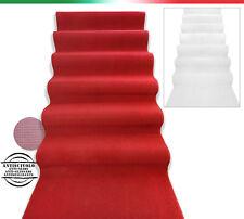 Tappeto BIANCO o BORDO' passatoia h100 cm nuziale matrimonio chiesa corsia scale