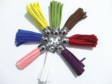 2pz nappe con fettuccia bifloccato scamosciata faux suede cord vari colori
