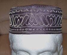 Kufic Mens Hat Skull Cap Namaz Topi Stitched Embroidery Design Size 54-55cm onl