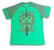 New Dublin IRELAND St Patrick's Day shield,sword,charm Lucky Tee Shirt