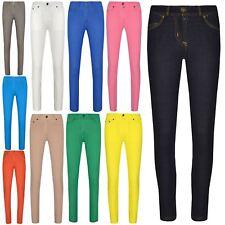 Jeans Skinny Ragazze Bambini Denim Elastico Jeggings Pantaloni Pantaloni Colorati 5-13 ANNO