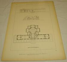 c1915  Architectural Print/1st Floor/Nat'l. Academy of Sciences/WASHINGTON DC