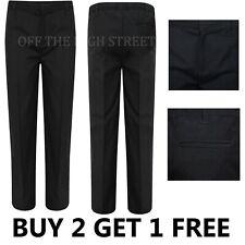 Boys Charcoal Grey Straight Leg School Trousers Regular Fit Ex Store 3 - 12 Year