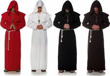 ADULT MENS MONK RELIGIOUS MEDIEVAL RENAISSANCE SORCERER COSTUME ROBE W/ HOOD