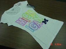 NWT Junior Girls Michigan U of M T Shirt Sport Football University Ann Arbor Fan