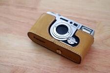 Genuine Real Leather Half Camera Case Bag Cover for Fujifilm Klasse W