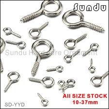 10-37mm Wholesale Eye Pins Screws  Hooks Eyelets Threaded Hardware 10-500 pcs