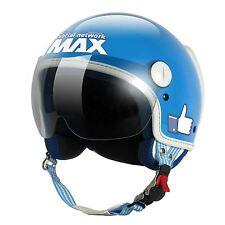 Novità Casco Max Helmets caschi social network Turchese Lucido