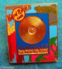 ACAPULCO GOLD RECORD FRAME SERIES IGUANA TROPICAL FLOWERS Hard Rock Cafe PIN