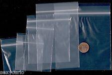 50/50 Mixed Plastic Transparent ZipLock Clear Bags Jewelry Zip Reusable Lock 100