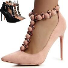 mujer Zapatos de tacón ENCAJE Tacones altos Tiras Remaches t-stripe blogger