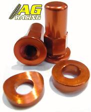 Apico Cap Screw Aluminium Rim Lock Orange 1 Pair MX
