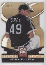 2014 Panini Donruss Elite Status Gold Die-Cut #10 Chris Sale Chicago White Sox