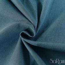 Tela al 1/2 Metro Mezcla De Algodón Panama alt. 320cm Tapicería sofá Azul Jeans