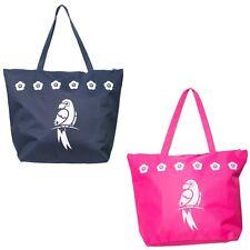Beach Bag Womens Ladies Large Summer Shoulder Bags Zip Tote Canvas Animal Print