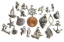Lots de Breloques au choix _ THEME MER PLAGE _ Perles charms créat bijoux _ TH1