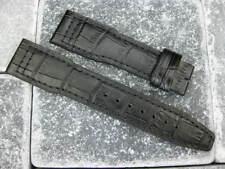 New IWC 20mm Black Crocodile Grain LEATHER STRAP Watch Band Top Gun PILOT x1 20