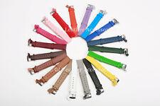 Damas De Hombre Reloj Correa de cuero de alta calidad 19 Colores Delgado 12 Mm - 22 mm