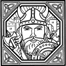 'Square Viking Motif' Rubber Stamp (RS007237)