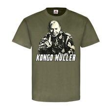 CONGO Müller mercenaires des souriants homme Afrique 60er Ans MAJOR T-shirt #23201