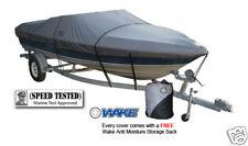 Wake Monsoon Premium Boat Cover Fits Fishing Ski Bass 16-18 FT Gray