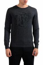 Gianfranco Ferre Men's Gray 100% Wool Crewneck Pullover Sweater Sz S M L