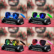 Cool Fashion Square Mirror Shades Sunglasses Cute 2 Tone Clear Mens Womens New