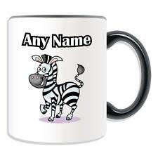 Personalised Gift Zebra Mug Money Box Name Message Coffee Cup Marty Madagascar