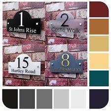 personnalisé panneau maison numéro Rue Adresse plaque moderne Pont Effect verre