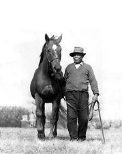 Champion Racehorse MAN O WAR Glossy 8x10 Photo Groom Will Harbutt Print