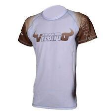 Viking Ranked Rashguard Short Sleeve - White/Brown