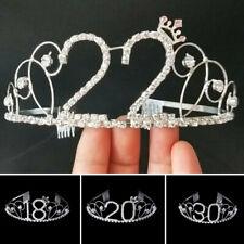 Rhinestone Birthday Crown Head Wear Headband Crystal Princess Comb Party Girl