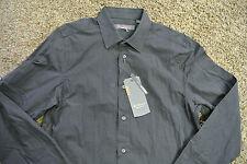 BEN SHERMAN MOD FIT REG FIT Shirt S NWT$99 L/S Black Tonal Stripe! Button-Up!