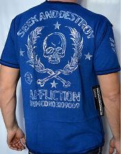 Affliction SIMULTANEOUS Men's Reversible Short Sleeve T-Shirt - A5404 - NEW