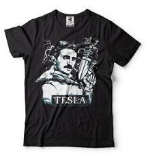 Nikola Tesla T-shirt Tesla Electric Gun Tee Shirt Mens Funny T-shirt Tesla shirt