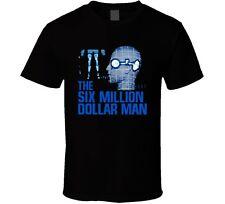 Six Million Dollar Man Retro 70s Bionic Man TV Fan T Shirt