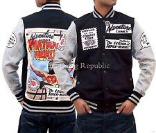 Phat Farm Mens Boys Hip Hop Comic Marvel Fleece Baseball Bomber Style Jackets