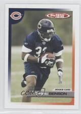 2005 Topps Total #510 Cedric Benson Chicago Bears Rookie Football Card