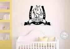Personalizado Caballo Pegatinas De Pared Decoración de Pared Dormitorio Playroom Niños Niñas Calcomanías