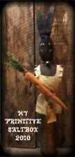 PATTERN~on cd/MY PRIMITIVE SALTBOX/SPRING/rabbit/carrots/bunny/make do/pt24