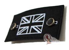 British Union Jack Flag Pin / Sew on Patch (Not stone island) Black & White GB
