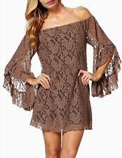 Vestito Donna Mini Manica Larga - Woman Mini Dress - Pizzo Lace- mod.110003MA