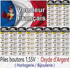 Piles/Battery Oxyde d'Argent SR63W G0 379S SR521 x 1 2 5 10 20 50 AG3 AG10 AG13