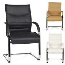 FineBuy MILAN silla de visita de cuero artificial sillón Diseño Silla conference