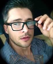 Fashion Rectangular Full Rim Plastic Frame Women Men Clear Lenses Eyeglasses