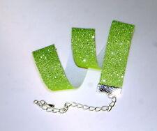 GLITTER-Collo/Choker, Neon Verde. COLLANA 16 mm di larghezza, Vendita Magazzino
