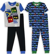 Lego Ninjago Boys 4pc Snug Fit Pajama Pant Set Size 4 6 8 10