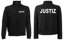 JUSTIZ Sweatjacke Jacke schwarz oder marineblau versch. Druckfarben zur Auswahl