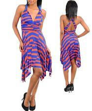 WOMENS Dress Sun CLUB Handkerchief Racerback  babydoll Pleated  Halter S M L